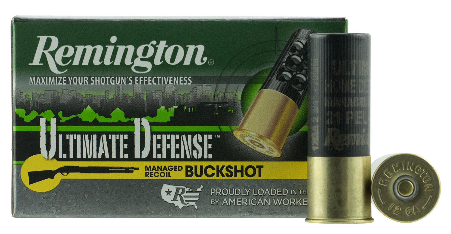 Remington Ammunition 12BRR4HD Ultimate Defense Buckshot  12 Gauge 2.75