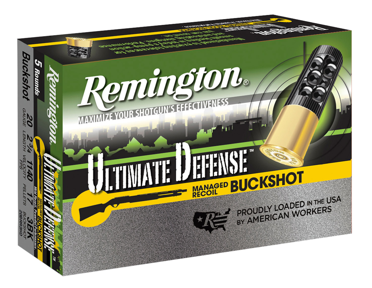 Remington Ammunition 20BRR3HD Ultimate Defense Buckshot 20 Gauge 2.75