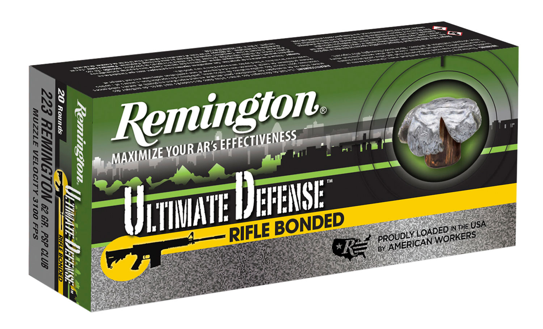 Remington Ammunition RD223R4 Ultimate Defense 223 Remington/5.56 NATO 62 GR Core-Lokt Ultra Bonded PSP 20 Bx/ 10 Cs