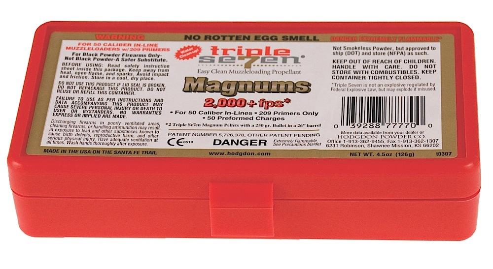 Hodgdon Triple Seven Magnum Pellets  <br>  50 cal. 50 gr. 50 pk. HAZMAT