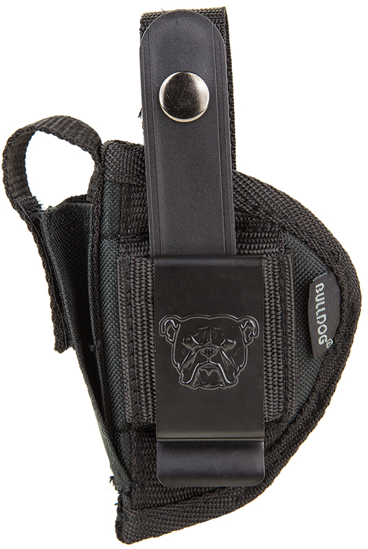 Bulldog FSN15 Extreme Pistol Belt Loop & Clip Sz 15 1911-Style Auto, Most Nylon Black