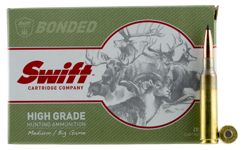 Swift 10110 Medium/Big Game 6.5x55 Swedish 130 GR Spitzer 20 Bx/ 10 Cs