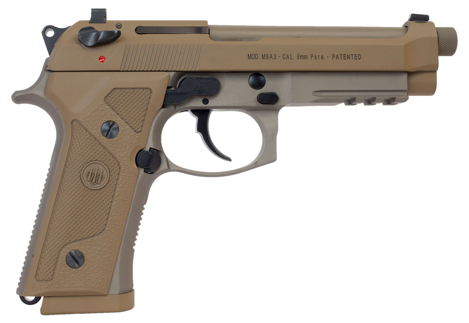 Beretta USA J92M9A3G M9 Italy Type G Single/Double 9mm Luger 5