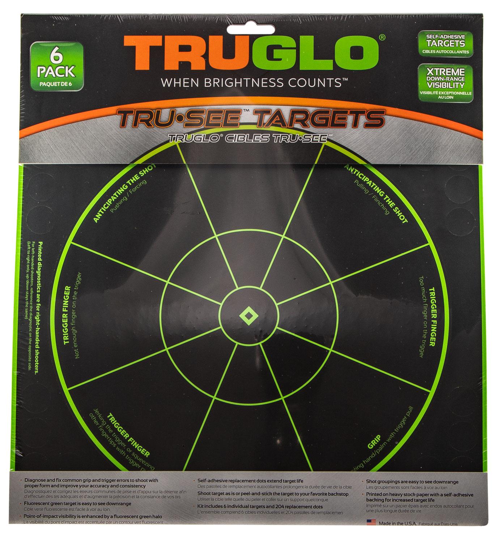 TRUGLO TRU-SEE REACTIVE TARGET HANDGUN DIAGNOSTIC 12