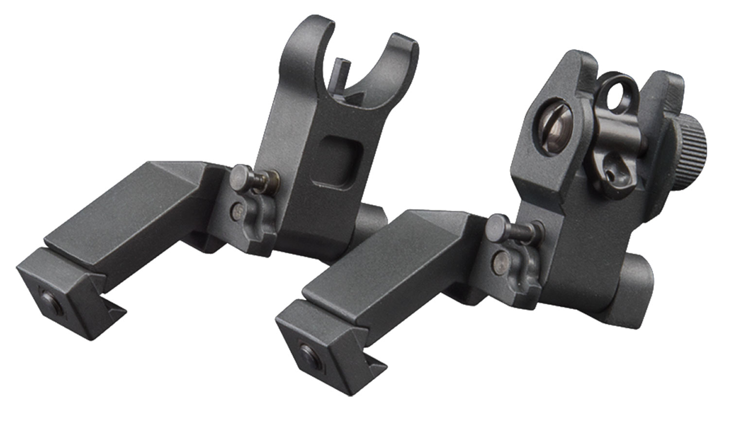 Aim Sports MT45FS 45 Degree Low Profile AR Flip Up Sights Aluminum Black
