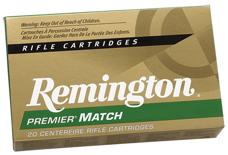 Remington Ammunition RM223R3 Premier Match 223 Remington 77 GR Hollow Point Boat Tail 20 Bx/ 10 Cs