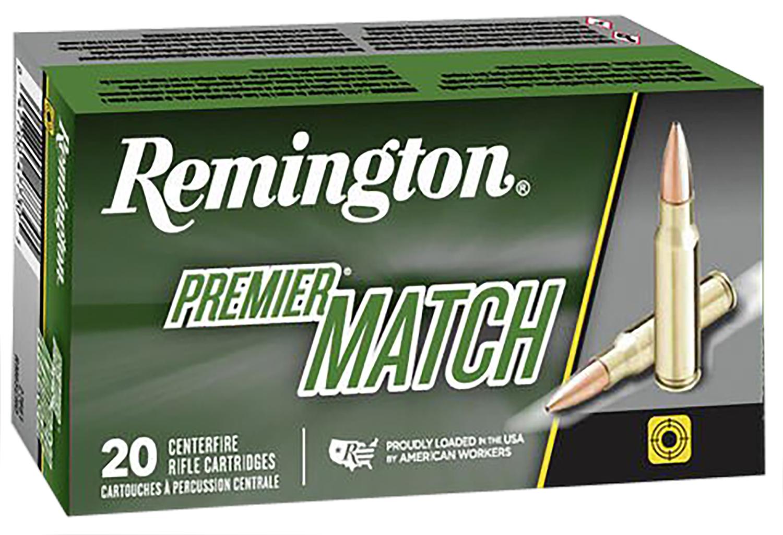 Remington Ammunition RM308W8 Premier Match 308 Winchester/7.62 NATO 175 GR Hollow Point Boat Tail 20 Bx/ 10 Cs