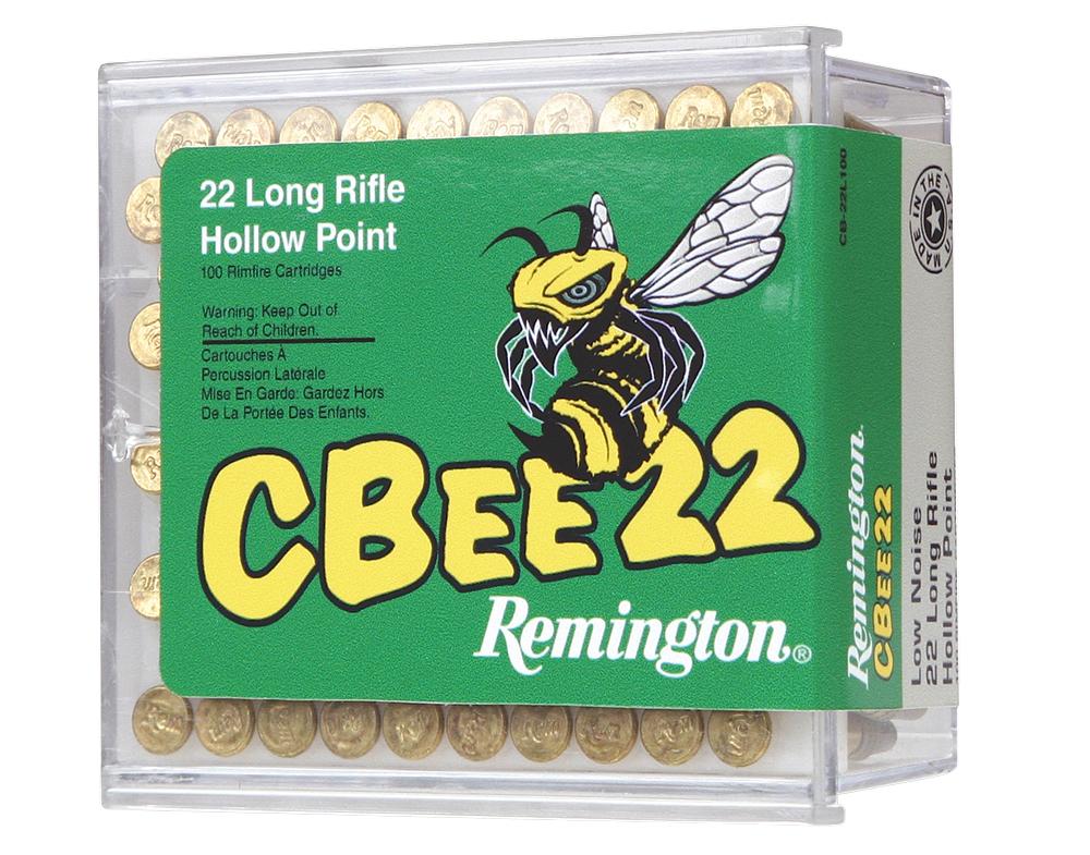 Remington Ammunition CB22L100 Cbee 22 Long Rifle Hollow Point 30GR 100Box/50Case