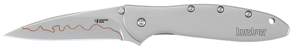 Kershaw Leek Assisted 3 in Composite Plain Stainless Handle