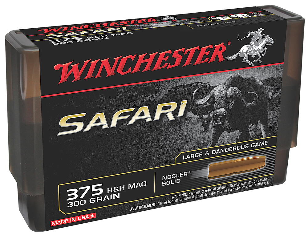 Winchester Ammo S416RSLS Supreme 416 Rigby 400 GR Nosler Solid 20 Bx/ 10 Cs