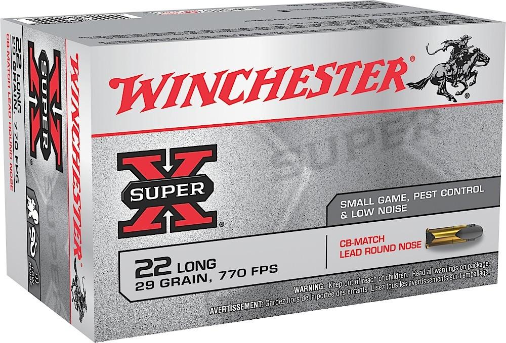 Winchester Ammo X22LRCBMA Super-X 22 Long Rifle 29 GR Lead Round Nose 50 Bx/ 60 Cs