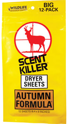 Wildlife Research Scent Killer  <br>  Dryer Sheets Autumn 12 pk.