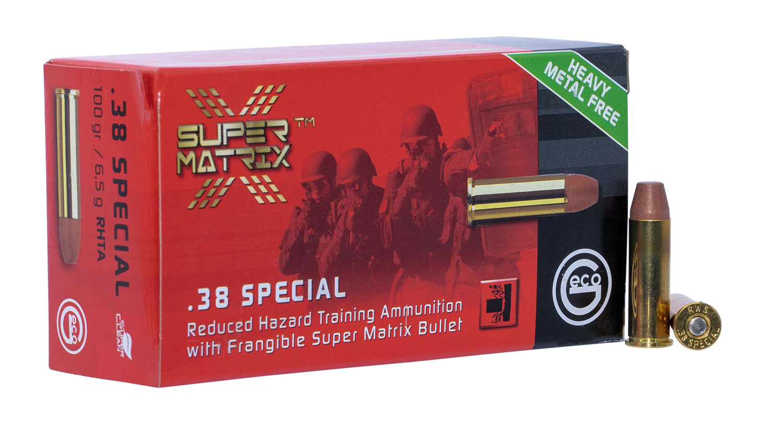 403840050 Reduced Hazard Training Ammo Geco Super Matrix  38 Special 100 GR Lead Free Frangible 50 Bx/10 Cs