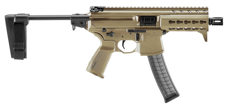 Sig Sauer MPXKPKMPSBFD MPX K with Pistol Brace AR Pistol Semi-Automatic 9mm Luger 4.5