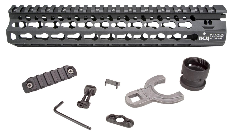 Bravo KMRA10556BK BCM AR-15 Alpha KeyMod Handguard Aluminum Black Hard Caot Anodized 10