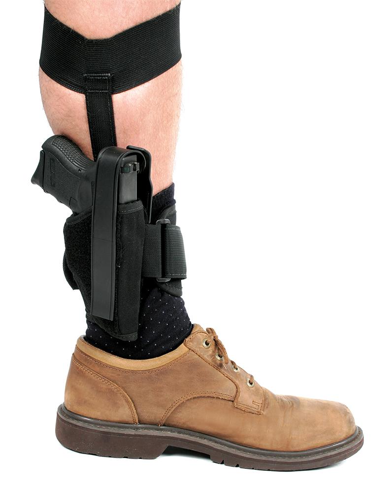 Blackhawk 40AH12BKR Ankle Holster RH Glock 26/27/33 & 9mm/40Cal 1000 Denier Cordura Nylon Black