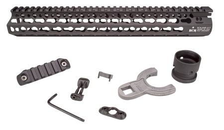 Bravo KMRA13556BK BCM AR-15 Alpha KeyMod Handguard Aluminum Black Hard Coat Anodized 13