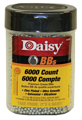 Daisy 60 PrecisionMax BBs .177 BB Zinc-Plated Steel 6000