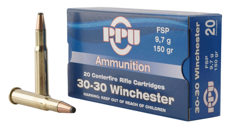 PPU PP30301 Standard Rifle 30-30 Winchester 150 GR Flat Soft Point 20 Bx/ 10 Cs
