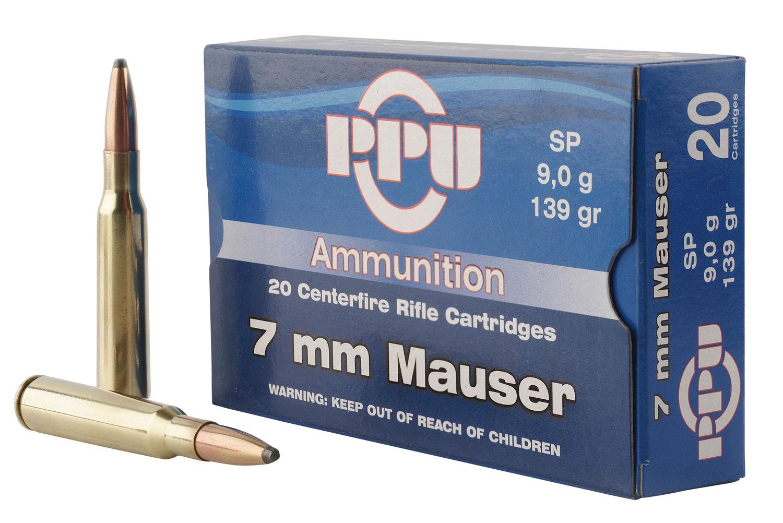 PPU PP3003 Metric Rifle 7mm Mauser 139 GR Soft Point 20 Bx/ 10 Cs