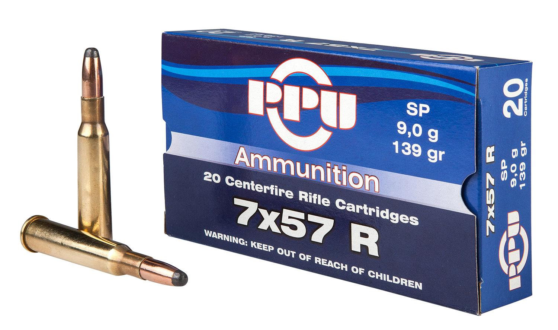 PPU PP303S1 Metric Rifle 7x57R 139 GR Soft Point 20 Bx/ 10 Cs