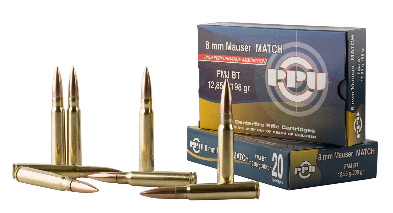PPU PP8F Metric Rifle 8mm Mauser 198 GR Full Metal Jacket 20 Bx/ 10 Cs