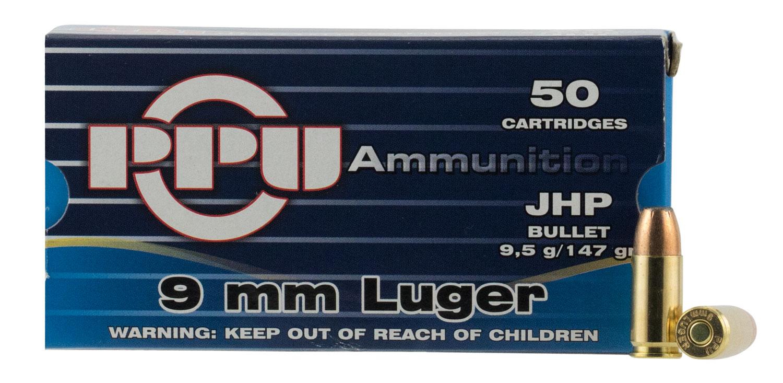 PPU PPR9.7 Handgun 9mm Luger 147 GR Full Metal Jacket 50 Bx/ 20 Cs