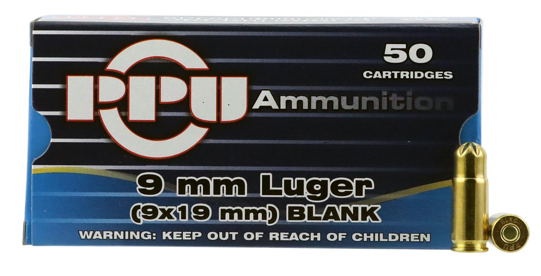 PPU PPB9L Blank 9mm Luger  50 Bx/ 20 Cs