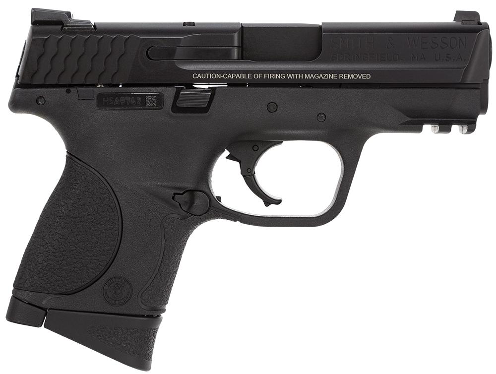 Smith & Wesson LE 220074 M&P 9 Compact Crimson Trace Lasergrip Double 9mm Luger 3.5