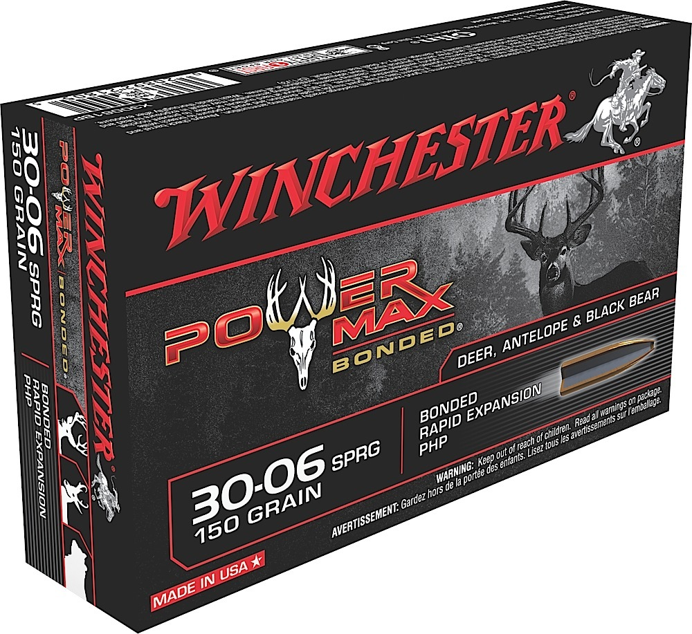 Winchester Ammo X30061BP Super-X 30-06 Springfield 150 GR Power Max Bonded 20 Bx/ 10 Cs