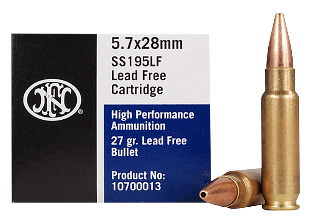 FN 10700012 Lead Free  5.7x28mm 27 gr Lead-Free Hollow Point 50 Bx/ 40 Cs (2000 rounds Sold by Case)