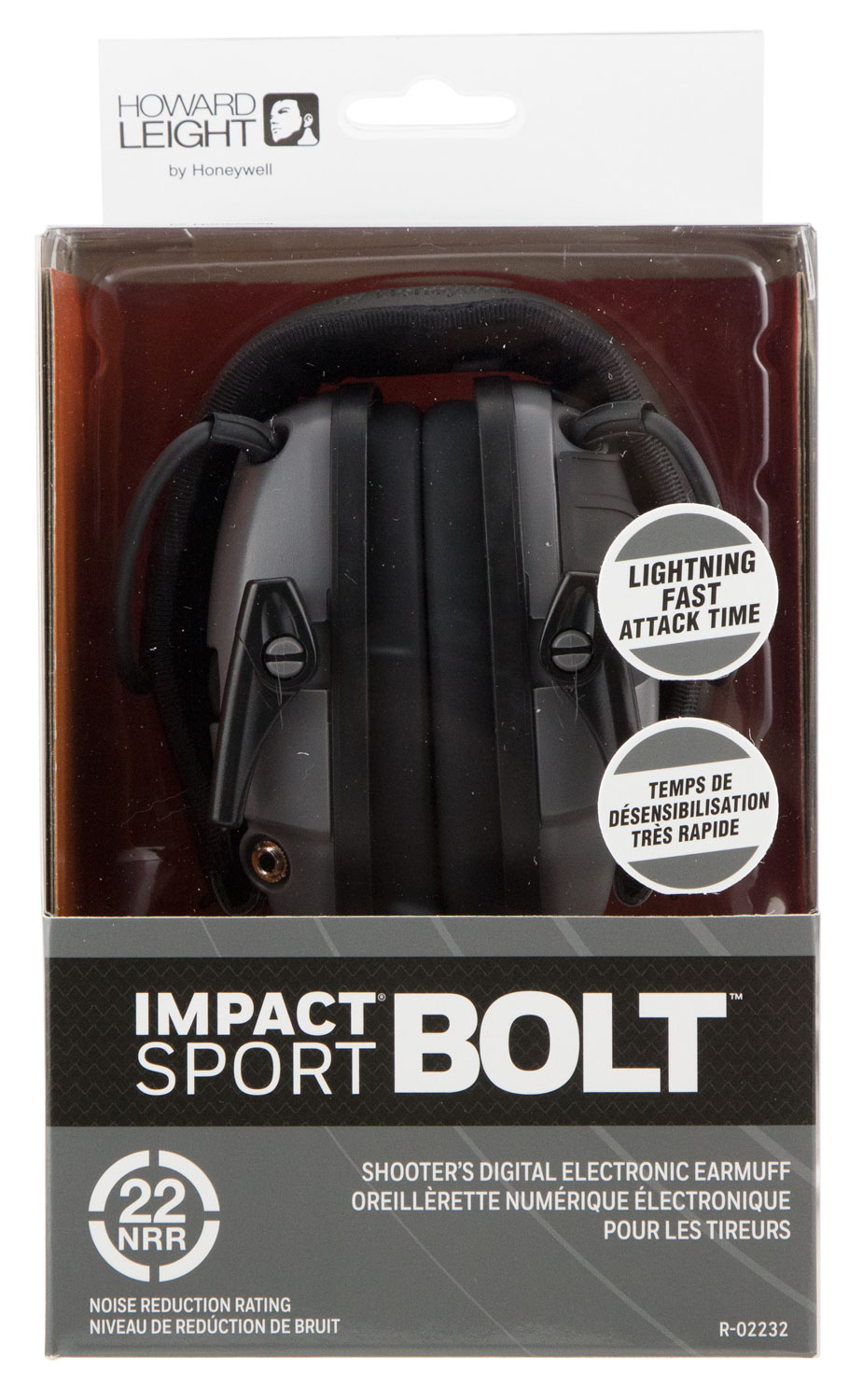 Howard Leight R02232 Impact Sport Earmuff 22 dB Gray