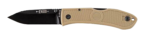 KA-BAR Dozier Folder 3.0 in Black Blade Coyote Zytel Handle