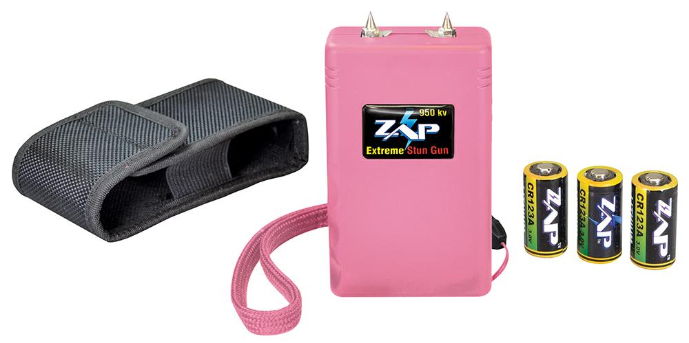 Zap ZAP950P Stun Gun Pocket Lightweight 390,000 Volts Pink