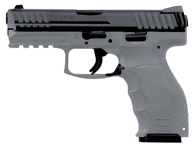 HK 700040GYLEA5 VP40 Gray  40 Smith & Wesson (S&W) Double 4.09