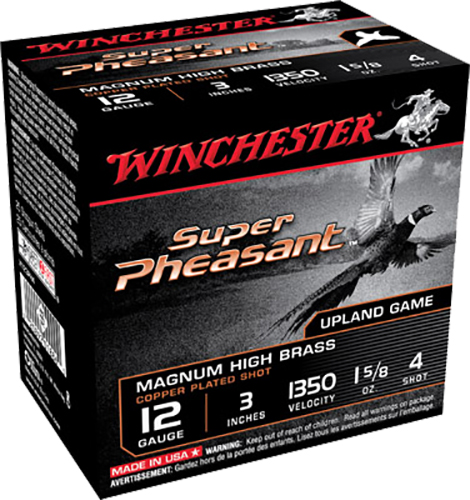 Winchester Ammo X123PH4 Super Pheasant Plated HV 12 Gauge 3