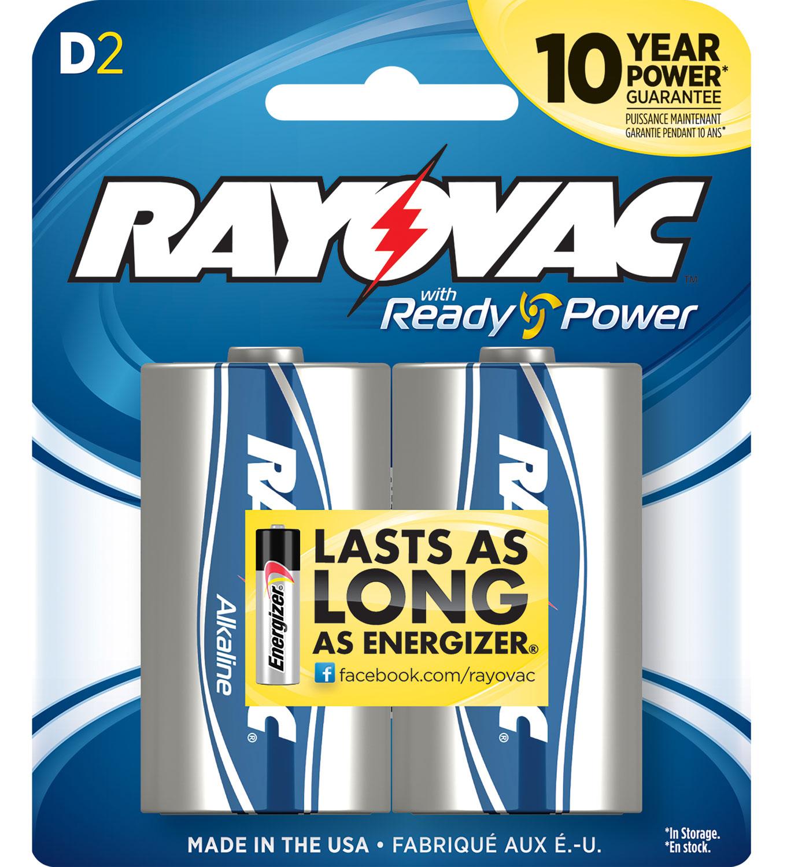 Rayovac 813-2F D Alkaline 1.5 Volt Alkaline 12000 mAh 2pk