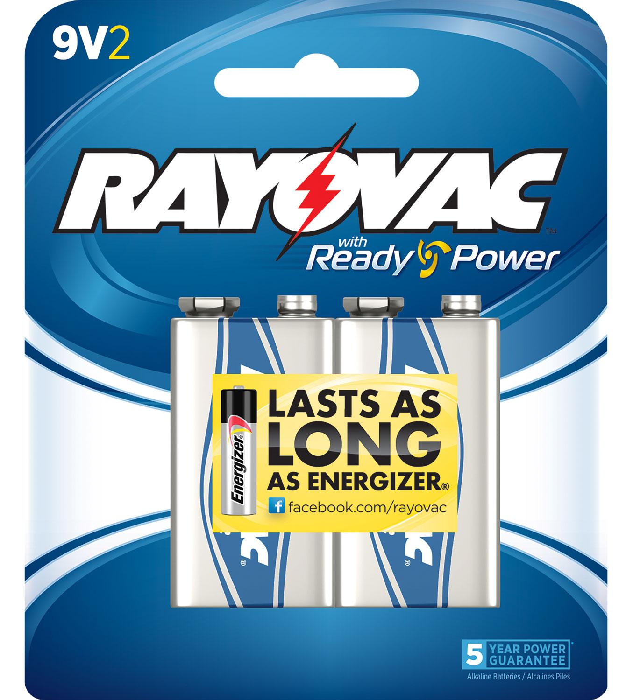 Rayovac A1604-2J 9V Alkaline 9V 9V 9V Alkaline Stick 2