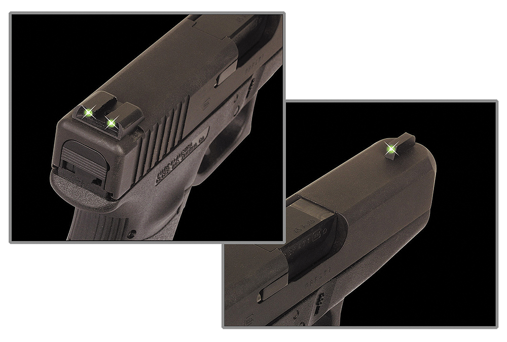 TruGlo TG-231MP Tritium Night Sights Square Green Front/U-Notch Green Rear Nitride Fortress Frame for S&W M&P, M&P Shield Including 22, 9/40 SD (Except 22 Compact, CORE, SD VE)