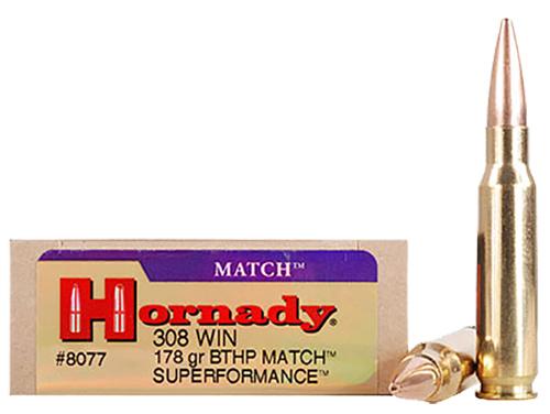 HRNDY SF MATCH 308WIN 178GR BTHP 20/