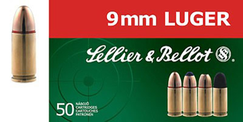Sellier & Bellot SB9C 9mm JHP 115 GR 50Box/20Case