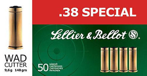 Sellier & Bellot SB38C Handgun 38 Special 158 GR Soft Point 50 Bx/ 20 Cs