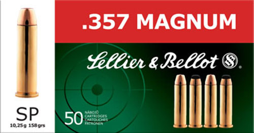 Sellier & Bellot SB357B Handgun 357 Magnum 158 GR Soft Point 50 Bx/ 20 Cs