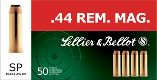 Sellier & Bellot SB44A Handgun 44 Rem Mag 240 GR Soft Point 50 Bx/ 12 Cs