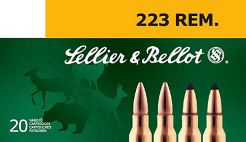 Sellier & Bellot SB223B Rifle 223 Remington/5.56 NATO 55 GR Soft Point 20 Bx/ 50 Cs