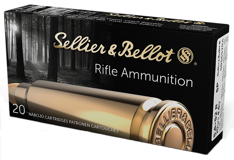 Sellier & Bellot SB5652RA Rifle 5.6mmX52R 70 GR Soft Point 20 Bx/ 25 Cs