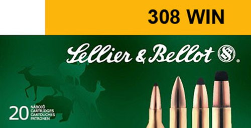Sellier & Bellot SB308A Rifle Training 308 Win/7.62 NATO 147 GR FMJ 20 Bx/ 25 Cs