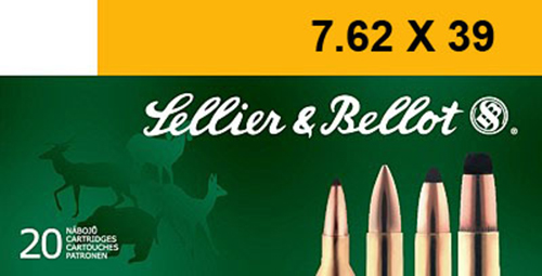 Sellier & Bellot SB76239B Rifle 7.62X39mm 123 GR Soft Point 20 Bx/ 30 Cs