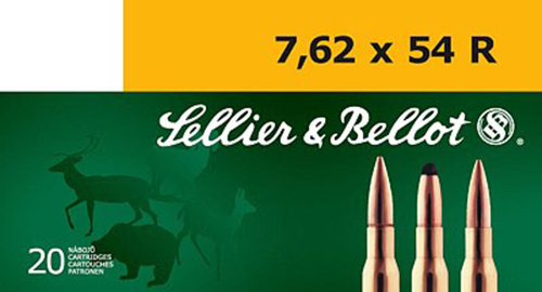Sellier & Bellot SB76254RA Rifle Training 7.62X54mm Russian 180 GR FMJ 20 Bx/ 20 Cs