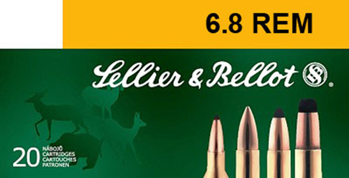 Sellier & Bellot SB68B Rifle Hunting 6.8mm Rem SPC 110 GR PTS (Plastic Tip Special) 20 Bx/ 30 Cs